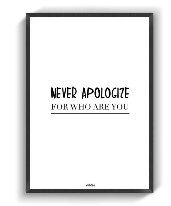 neverapoligize