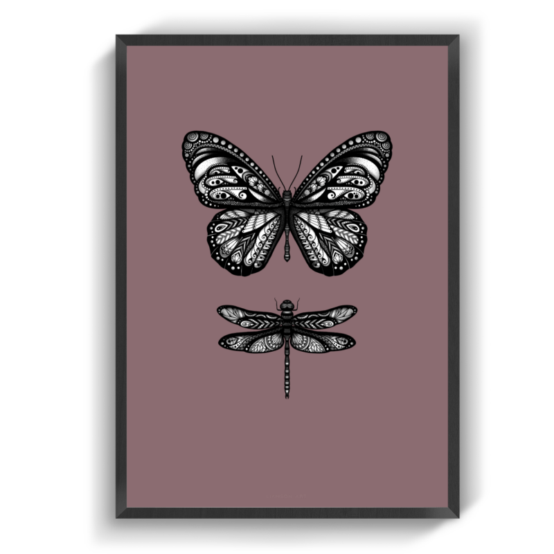 Butterfly&Dragonfly pink