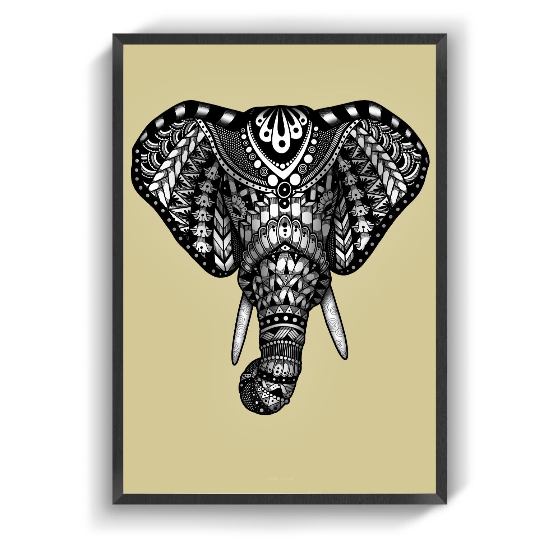 Elephantportrait karry